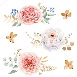 Наклейка Цветы Розовые  - фото
