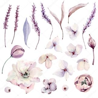 Наклейка Цветы пастельные  - фото