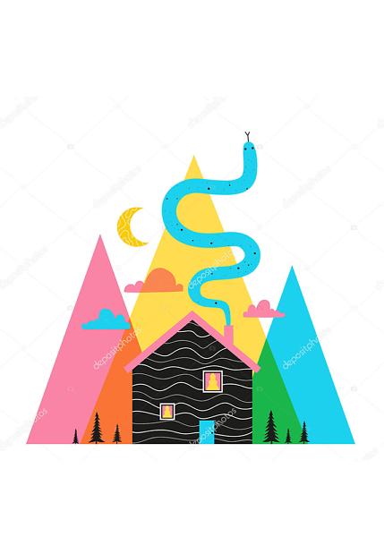 Домик в горах  - фото