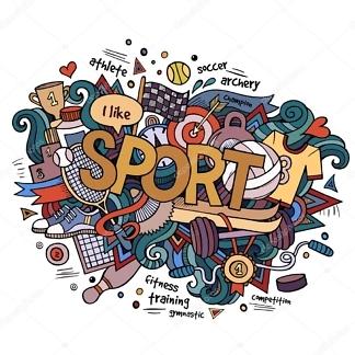 Наклейка Спорт  - фото