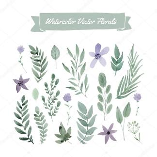 Наклейка на стену Цветы и Листья  - фото