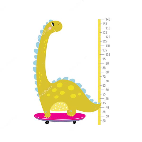 Ростомер Динозавр на скейте  - фото
