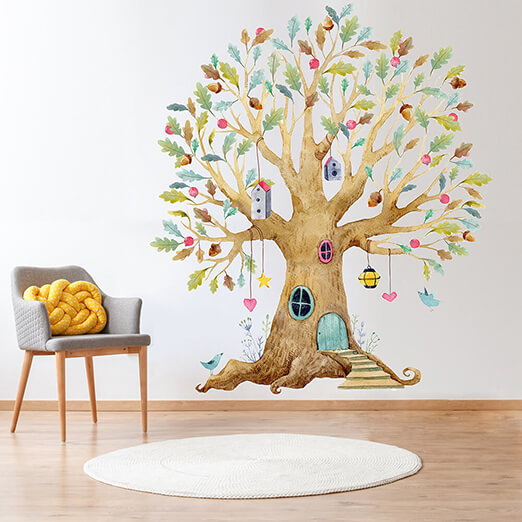 Наклейка на стену Дерево - фото 11