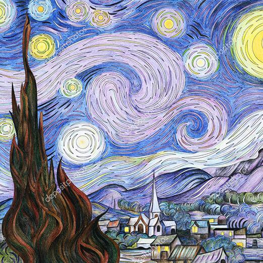 Постер Звездная ночь фото 11