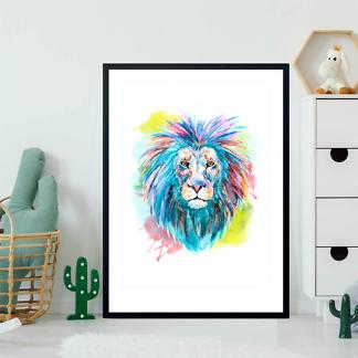 Постер Лев яркий  - фото 2