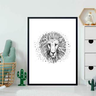 Постер Рисунок льва  - фото 2