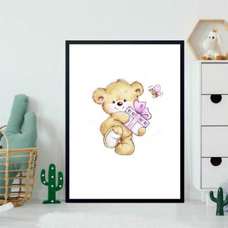 Постер Медведь с подарком  - фото 2