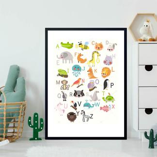 Постер Алфавит с животными  - фото 2