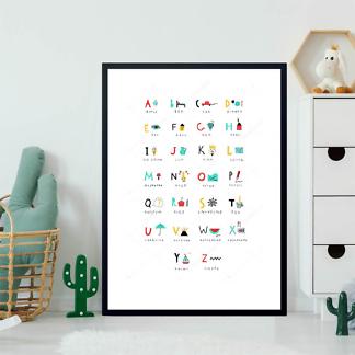 Постер Английский алфавит  - фото 2