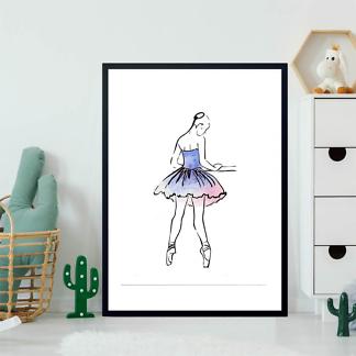 Постер Балерина в голубом  - фото 2