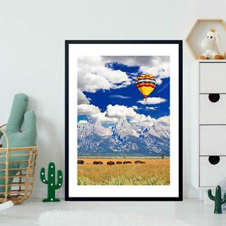 Постер Стадо бизонов и воздушный шар  - фото 2