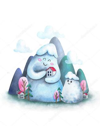 Горы в детскую  - фото