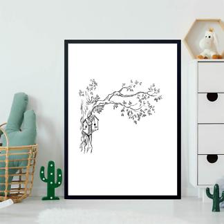 Постер Птичий домик на дереве  - фото 2