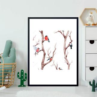Постер Снегири на дереве  - фото 2