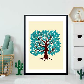 Постер Дерево с голубыми листьями  - фото 2