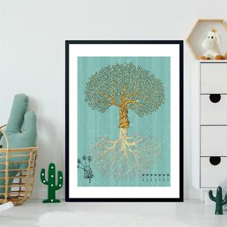 Постер Винтажное дерево  - фото 2
