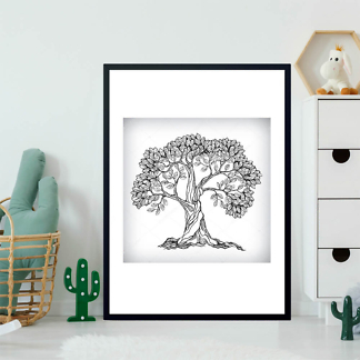 Постер Дерево ЧБ  - фото 2