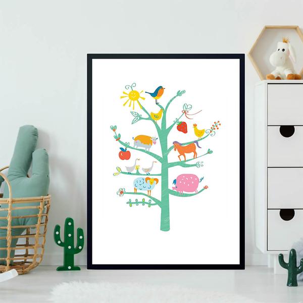 Постер Дерево с животными  - фото 2