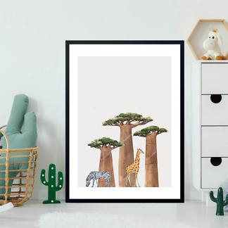 Постер Баобабы и животные  - фото 2