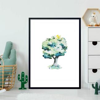 Постер Дерево нарисованное  - фото 2