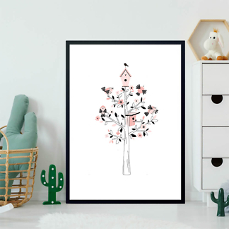 Постер Дерево с птицами  - фото 2