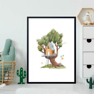 Постер Оранжевый домик на дереве  - фото 2