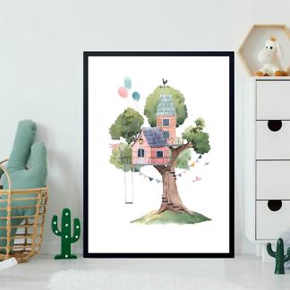 Постер Розовый домик на дереве  - фото 2