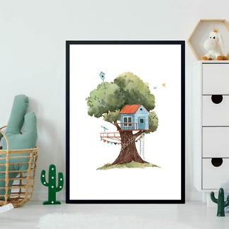 Постер Голубой домик на дереве  - фото 2