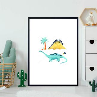 Постер Два акварельных динозавра  - фото 2