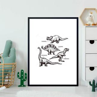 Постер Нарисованные динозавры  - фото 2