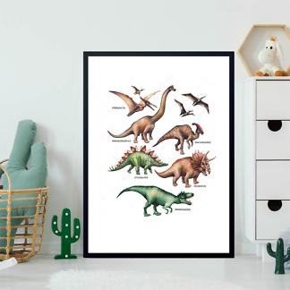 Постер Травоядные и хищные динозавры  - фото 2