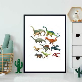 Постер Виды динозавров  - фото 2
