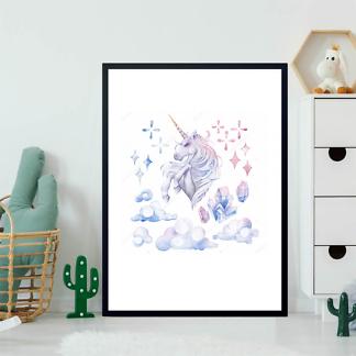 Постер Единорог в облаках  - фото 2