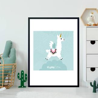 Постер Лама Единорог -2  - фото 2