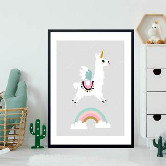 Постер Лама Единорог  - фото 2