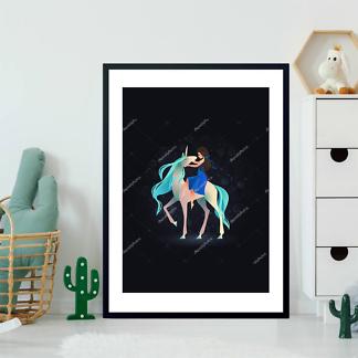 Постер Девушка на Единороге  - фото 2