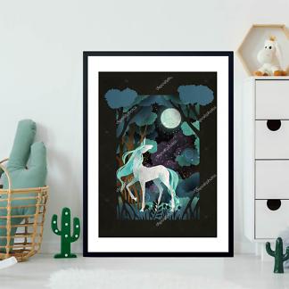Постер Единорог в волшебном лесу  - фото 2