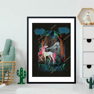 Постер Девушка и Единорог  - фото 2