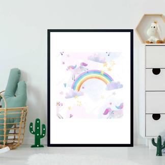 Постер Единорог на радуге  - фото 2