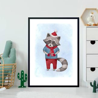 Постер енот — детская иллюстрация  - фото 2