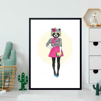 Постер Енот милая девушка  - фото 2