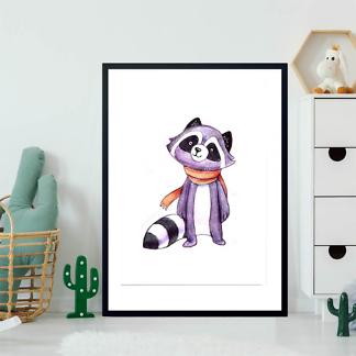 Постер Енот в шарфе  - фото 2