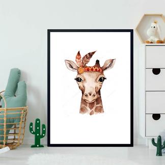 Портрет акварельного жирафа  - фото 2