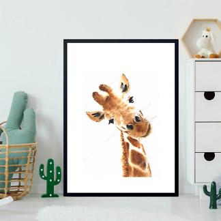 Портрет любопытного жирафа  - фото 2
