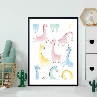 Постер Разночветные жирафы  - фото 2