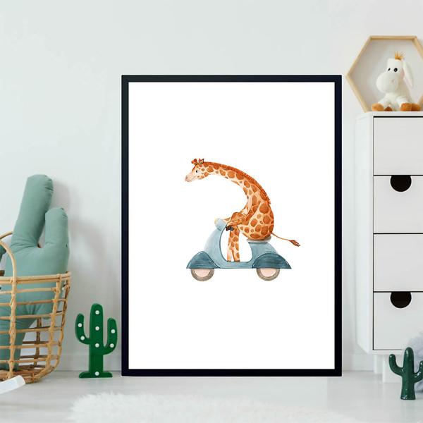 Постер Жираф на мопеде  - фото 2