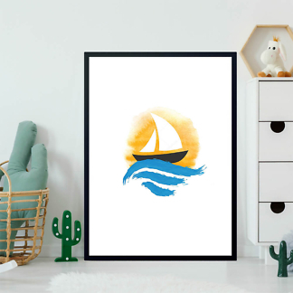 Картина Парусник  закатном солнце  - фото 2