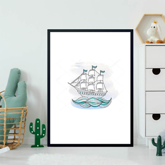 Картина Кораблик на волнах  - фото 2