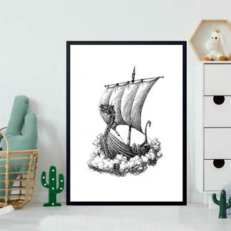 Картина Корабль варягов  - фото 2