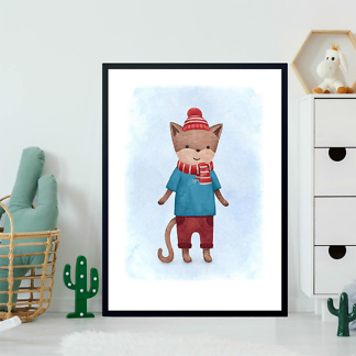 Постер Кот в шапочке  - фото 2